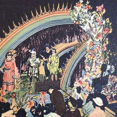New Orleans Mardi Gras Postcard Float Parade Vintage Linen Night Pageant Krewes