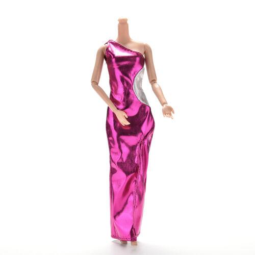 1 Pcs Vest Purple Single Shoulder Dresses Cheongsam for s Princess Doll HICFBDC