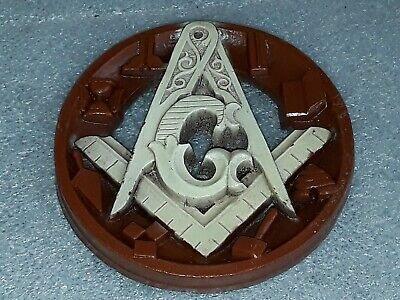 "12/"" Wall Wooden Masonic Compass and Square Mason Freemason Wood Sign Lodge"