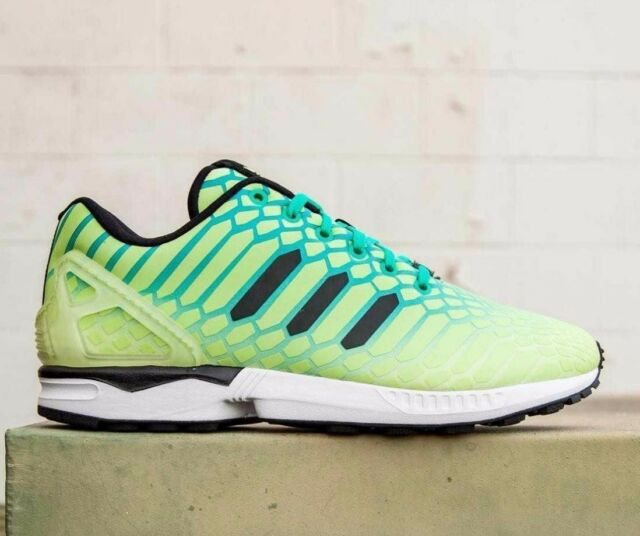 the latest b8daf ad7d1 adidas ZX Flux XENO Borealis Frost Yellow Size 12 AQ8212