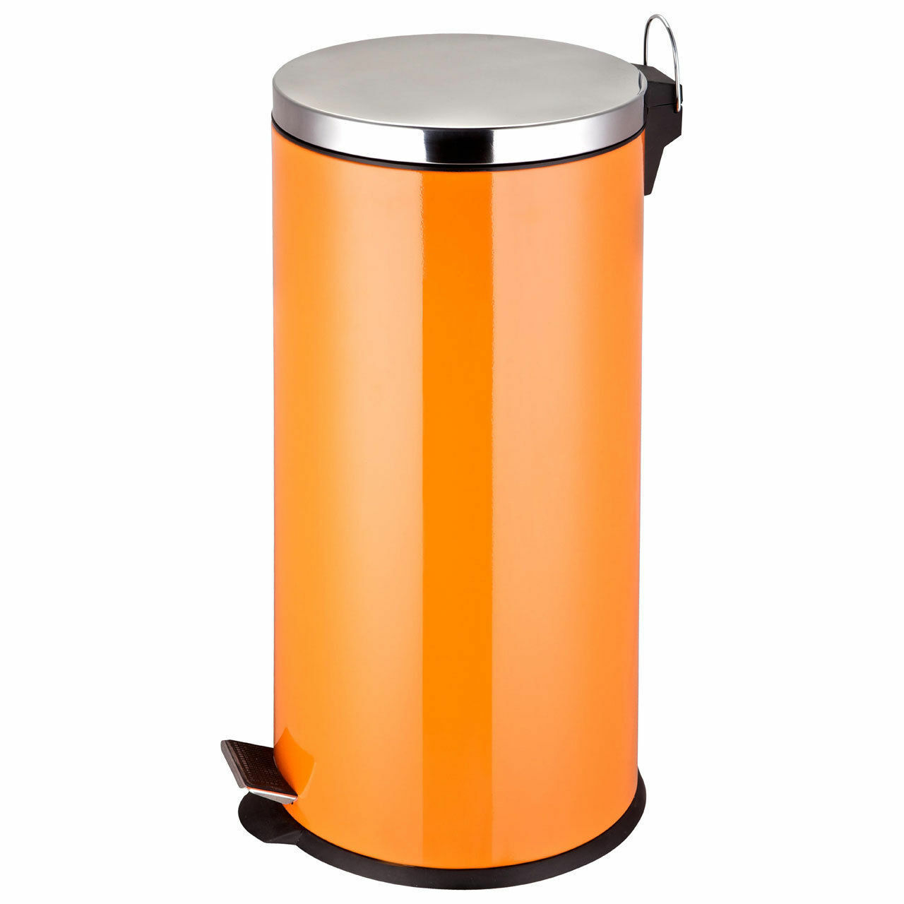 New Orange Pedal Bin 30 Litre Rubbish Kitchen Waste Stainless Steel Recycle Step