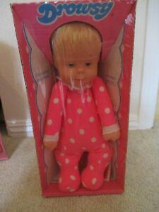 New in Original Sealed Box! Vintage Doll 1974 Mattel Talking Drowsy!