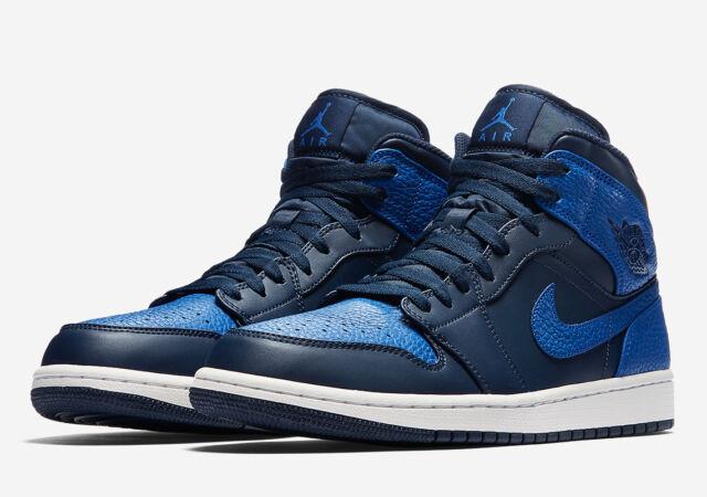 cbde237304549e Nike Air Jordan 1 Mid Shoes Basketball High Top Trainers Obsidian ...
