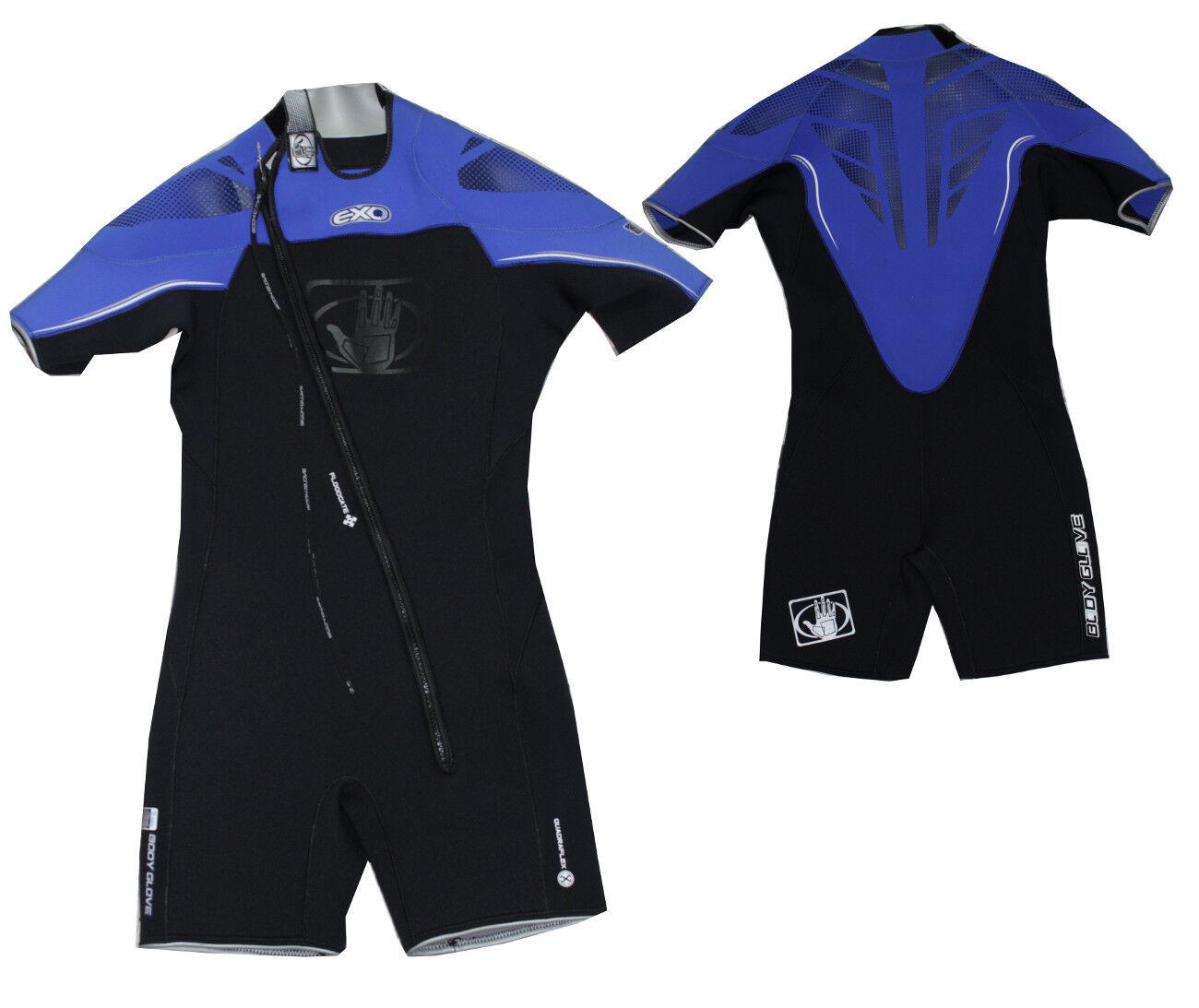 Body Glove EXO Neopren 5 mm Shorty Wellenreiten Surf Kite Wakeboard Anzug blau