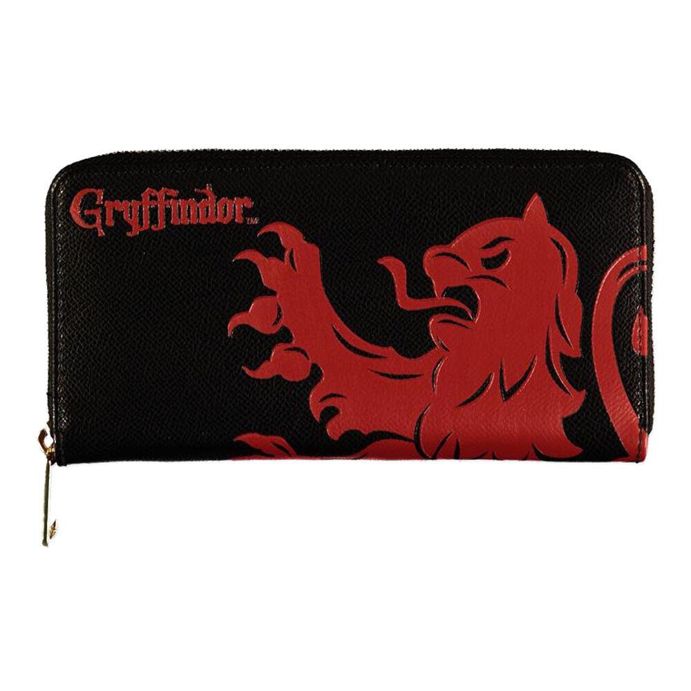 Harry Potter Wizards Unite Gryffindor Logo & Symbol Zip Around Wallet Black