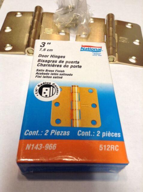 2 piece National Hardware N143-966 512RC Door Hinges in Brass 3