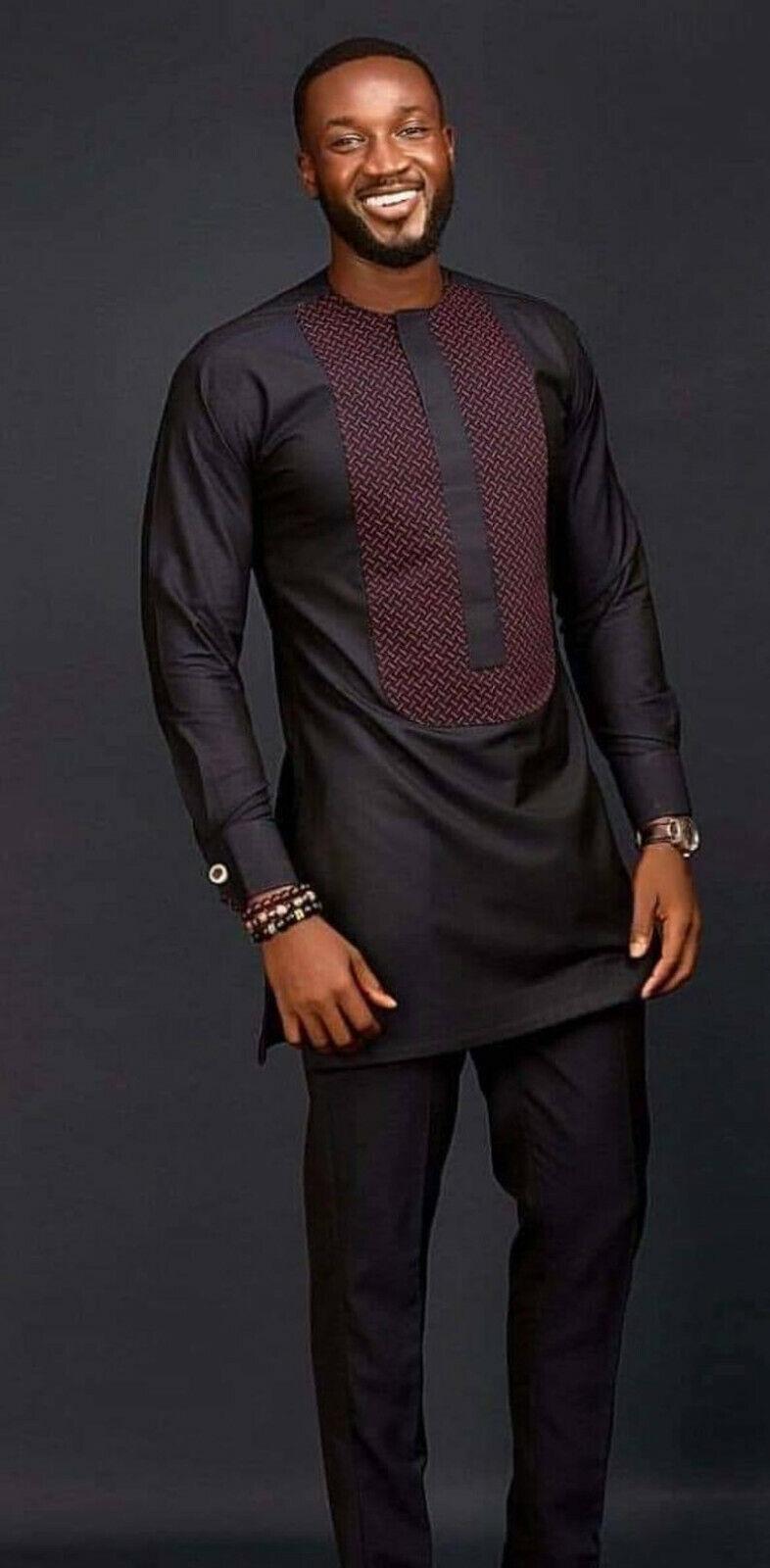 African Dashik set, matching shirt and pant/African clothing / African men cloth