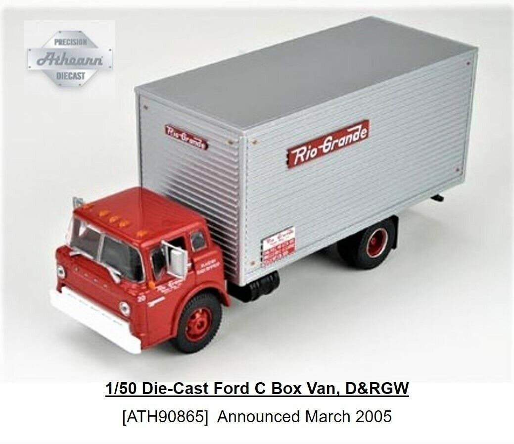 ATHEARN  90865 1 50 SCALE RIO GRANDE FORD C SERIES BOX VAN