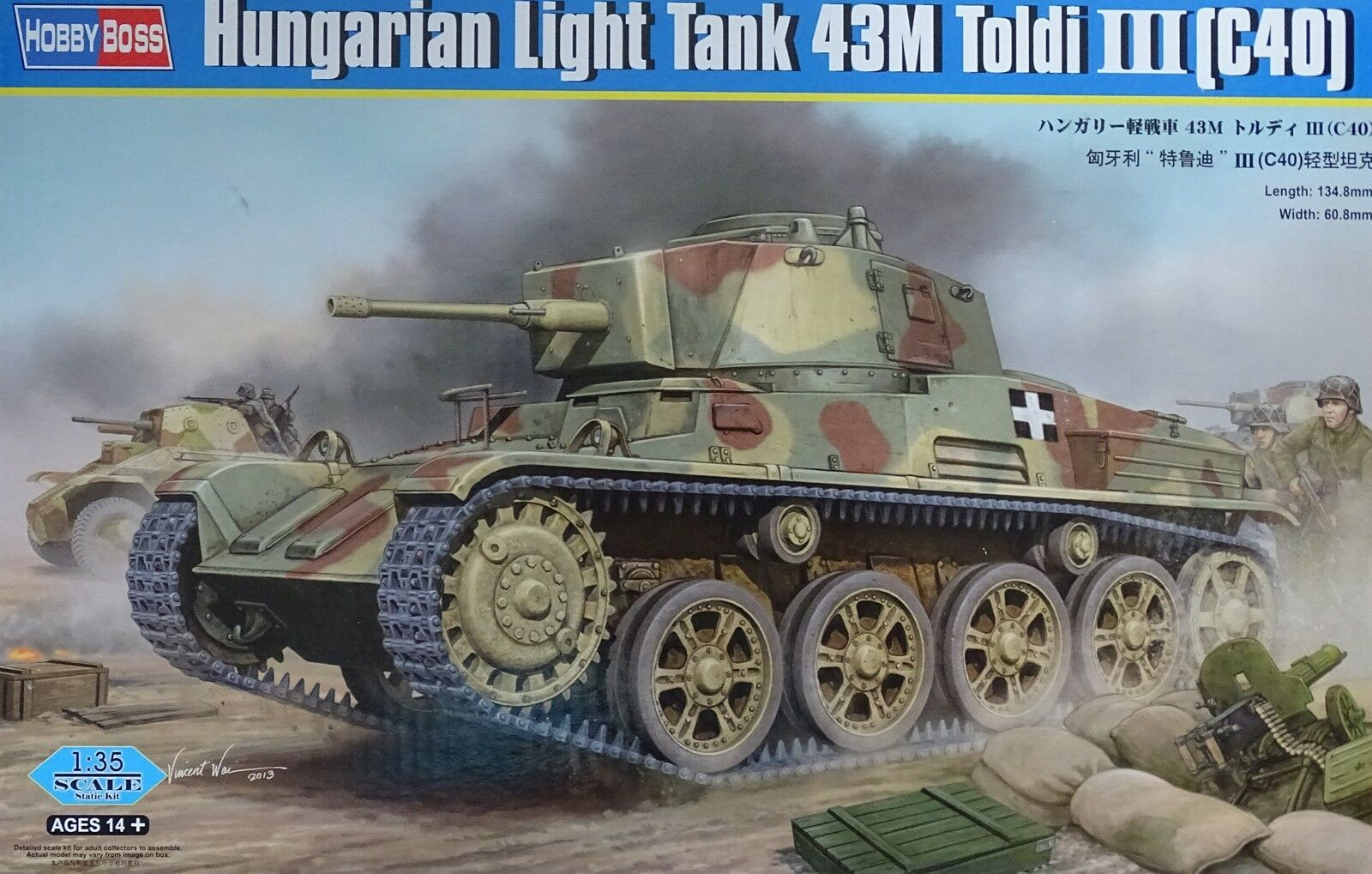 HOBBYBOSS® 82479 82479 82479 Hungarian Light Tank 43M Toldi I(C40) in 1 35  | Verkauf