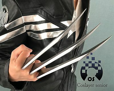 2 Pz 1 Paio X-Men Wolverine 21,6 cm Artigli Bambini Edition Plastica Cosplay Costume Prop Xmen Logan Replica Lupo Uomo Cosplay Argento