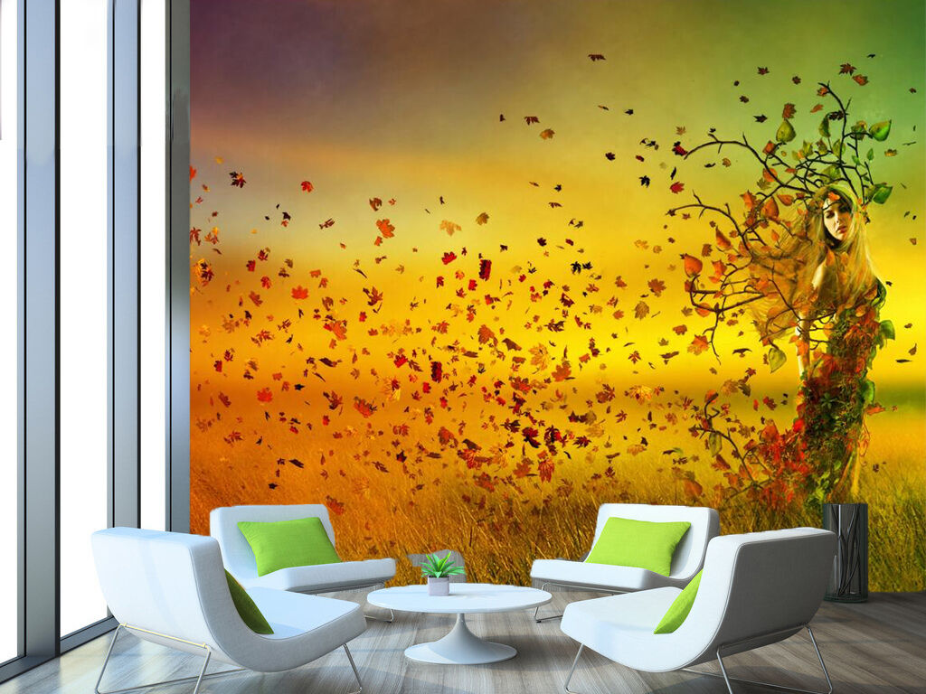 3D Scenery, beautiful girl Wall Paper Wall Print Decal Wall Indoor AJ Wall Paper