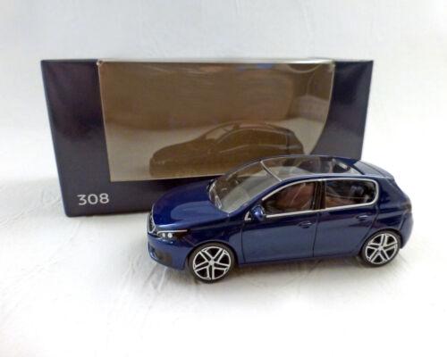 """1:64 blau-Met Peugeot 308 /""""facelift/"""" 2017 NOREV"""