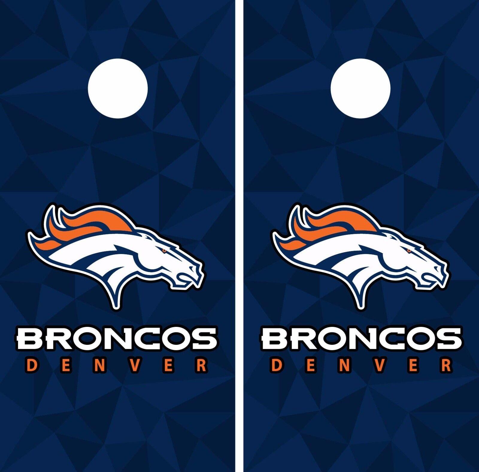 Denver Broncos Cornhole Skin Wrap NFL Football Art Decor Vinyl DR27