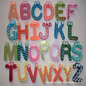 Image Is Loading Large 26 Wooden Alphabet Letters Wall Hanging Nursery