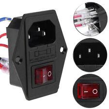 DIY 220//110V 15A 3D Printer U-type Plug Power Supply Switching Socket Fuse L6X3
