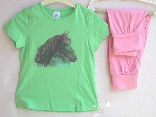 152 UVP 25,95 € 104 Sanetta Girls Schlafanzug  grün rosa  Gr