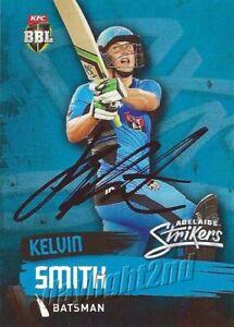 Signed-2015-2016-ADELAIDE-STRIKERS-Cricket-Card-KELVIN-SMITH-Big-Bash-League