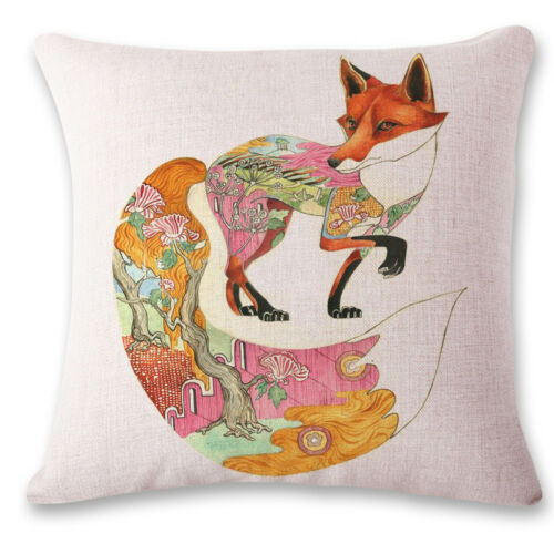"""18/"""" Animal Print Cotton Linen Pillow Case Cushion Cover Sofa Home Decor"""
