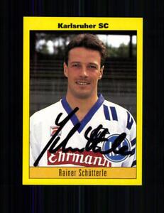 Sparsam Rainer Schütterle Karlsruher Sc Panini Sammelbild 1994 Original A 208807 Geschickte Herstellung Fußball, National