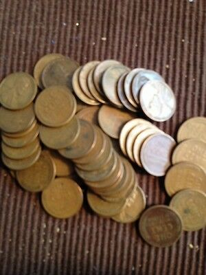 1-roll (50) Sanfrancisco Mint Wheat Pennies Many Dates19's, 1920'1930's,40's,50'