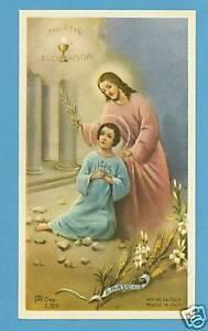 VINTAGE-Catholic-Holy-Card-ST-TARCISIUS-Holy-Eucharist-picture