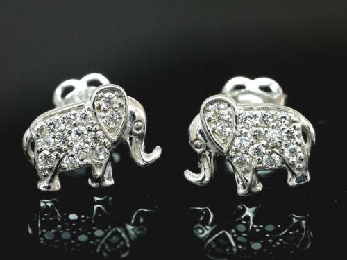 585 circonitas pendientes elefantes 8,4 mm 1 pares con 24 circonita piedras