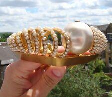 Antique Victorian Pinchbeck & Faux Pearl Comb Tiara Hair Decoration