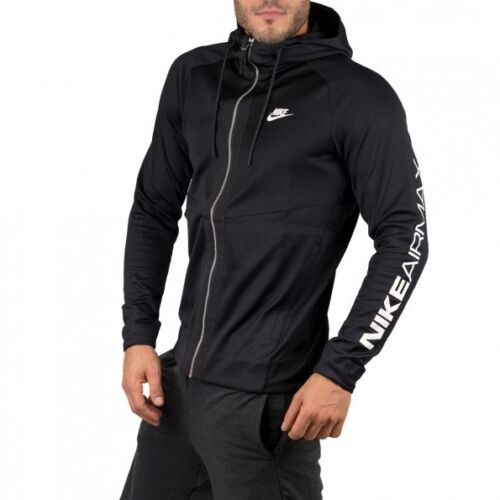 Nike Sportswear Full-Zip Hoodie Air Max Black Size XL NWT 861580-010