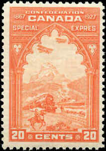 Mint-Canada-1927-20c-Scott-E3-Special-Delivery-Stamp-Never-Hinged