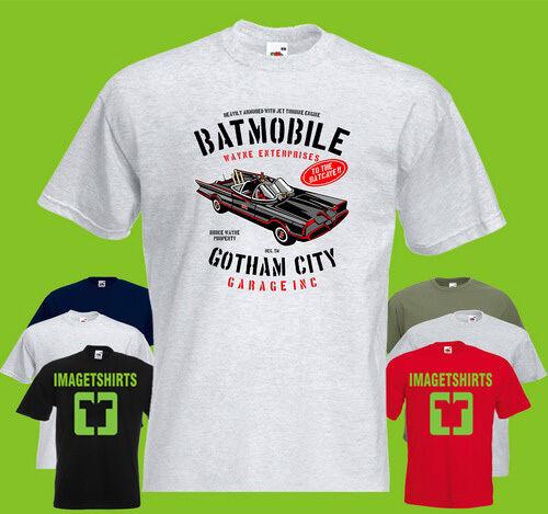 Batmobile T-shirt Imprimé Batman Voiture Mobile Gotham City une Batcave Bruce Wayne