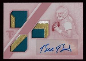 BLAKE-BORTLES-1-1-ROOKIE-AUTO-JERSEY-PATCH-WHITE-WHALE-RC-SP-2014-TRIPLE-THREADS