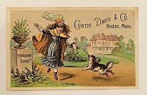 WELCOME SOAP Curtis Davis & Co. Victorian Trade Card