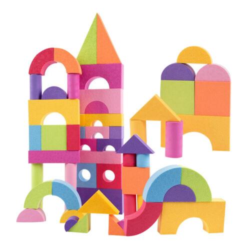 50Piece EVA Foam Geometric Building Blocks Construction Toy 3D Jigsaw Puzzle