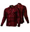 thumbnail 9 - Men Motorcycle Plaid Flannel Lumberjack Shirt Reinforced w/ Protective Lining