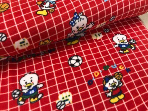 fútbol Tela impresa Corderoy Polar 150cm Ancho patos osos rostros