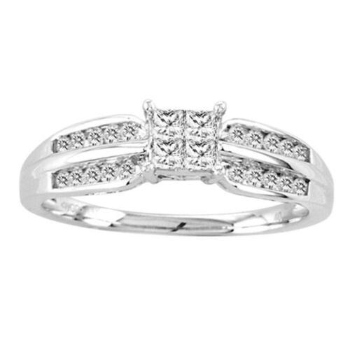 .40Ct Invisible Set Diamond Ring Ladies Engagement 14K White Gold Size 7