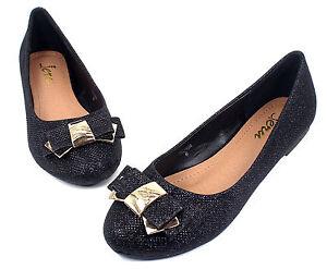 BELINDA-Slip-On-Casual-Party-Ballet-Flats-Office-Oxford-Women-039-s-Shoes-Black-9