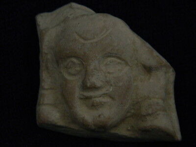 Expressive Ancient Teracotta Head Bactrian C.300 Bc #tr5934 Activating Blood Circulation And Strengthening Sinews And Bones Near Eastern