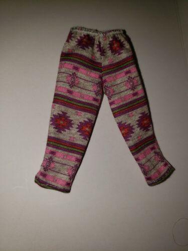 new Barbie GREY AZTEC PRINT COTTON  knit CAPRI Pants for Barbie doll
