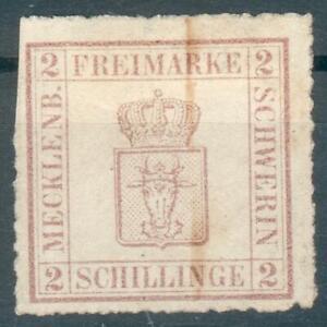 Mecklenburg-Schwerin-Mi-Nr-6b-o-Federzugentwertung-feinst