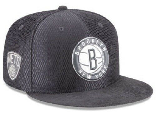 40dd1bc76e2 Era 9fifty Brooklyn Nets on Court Collection Snapback Hat Cap NBA