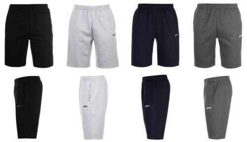 Slazenger Polaire Poche Zippée Short Pantalon De Détente Pj /'s XS S M L XL 2XL 3XL 4XL NEUF