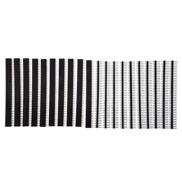 10x Single Reihe Männliche und weibliche 40 Pinne Kopfleiste 2,54mm