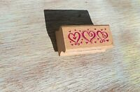 3 Happy Hearts Rubber Stamp Free Shipping