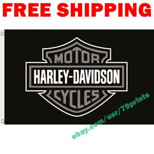 Harley Davidson Motorcycle Logo Flag Banner 3x5 Ft Show Garage Wall