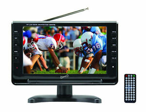 "Supersonic SC-499: 9"" Portable Rechargeable LCD TV w/ Remote AC/DC Digital Tuner"