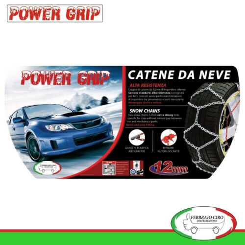 Catene Neve Power Grip 12mm Gr 120 gomme 215//60r17 Volkswagen Tiguan