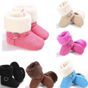 9cbd7abed03c0 Baby Girl Winter Soft Booties Snow Shoes Cashmere Boots Toddler Warm ...