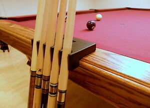 Portable 5 Pool Cue - Billiard Stick Holder - Rest Black- Cues Not Included