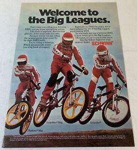1981 SCHWINN BMX bicycles ad ~ Phantom Mag, Scrambler Mag, Scrambler